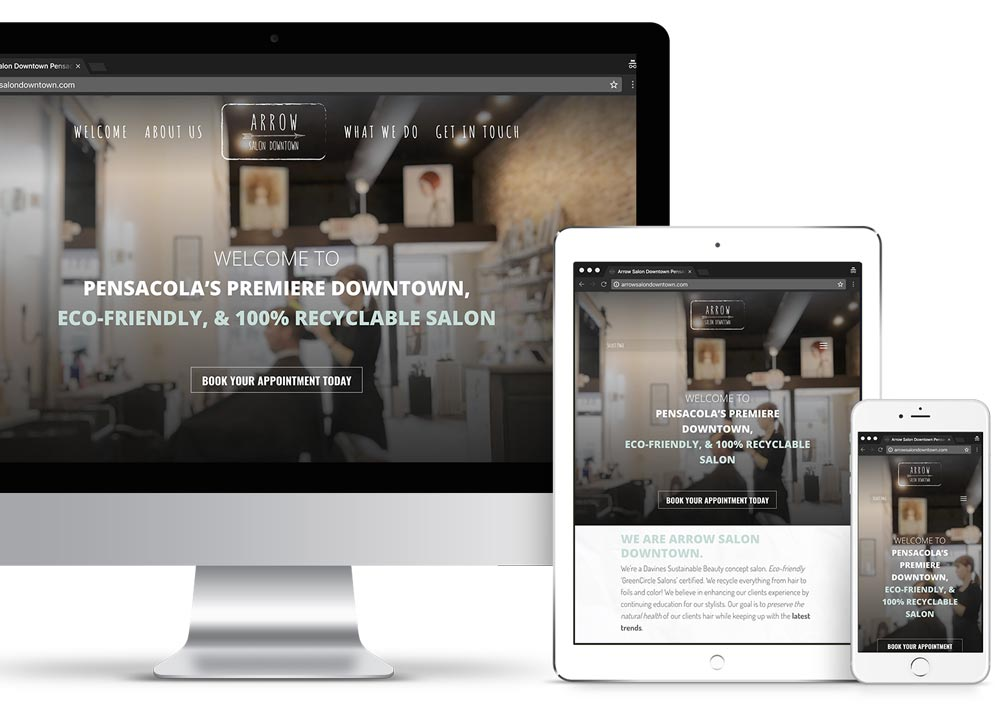 Arrow Salon Downtown Custom Website