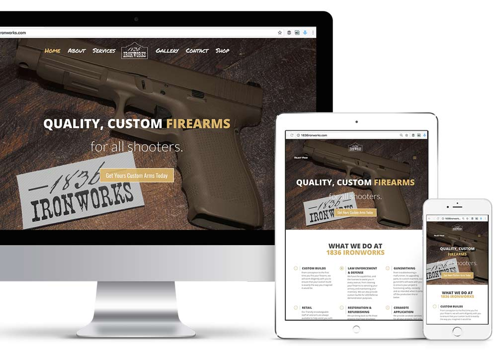 1836 Ironworks Custom Website