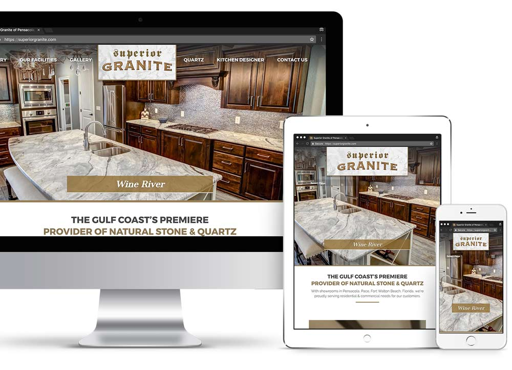 Superior Granite Custom Website